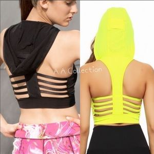 Other - Sports workout exercise hoodie bra yoga strappy